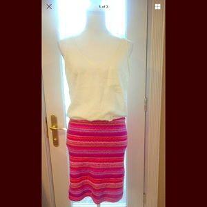 Aqua sz m Aztec sleeveless 1 pocket dress